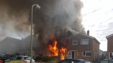 Tumble drier fire destroys family home