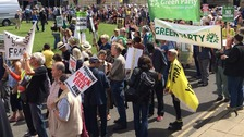 Community gets together for 'biggest ever' anti-fracking rally in Yorkshire