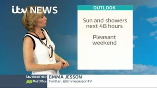 Emma Jesson brings you the weekend weather update