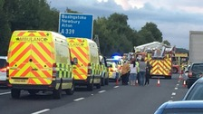 Man remains critical after crash which closed motorway for 6 hours