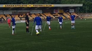 Players at Annan Athletic
