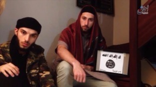 Kermiche (L) and Petitjean pledged allegiance to so-called Islamic State