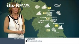 VIDEO: Saturday's forecast for the Tyne Tees region