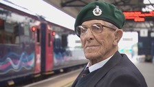 WW2 veteran gets his wish to drive a train