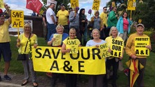 Protests continue in the fight for Chorley Hospital's A&E unit