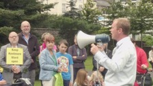Crowds celebrate at mental health ward rally