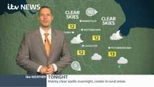Mostly dry overnight. Sunny spells and isolated showers on Sunday.