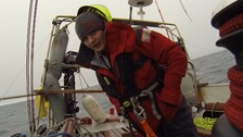 Schoolboy, 14, sailing to North Pole nearing the ice