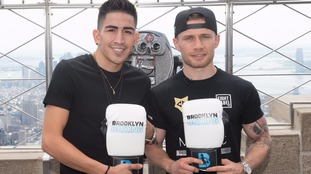 Carl Frampton and Leo Santa Cruz pictured in New York before their fight