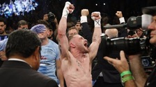 Carl Frampton becomes two-weight world champion