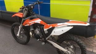 Off-road bikes seized in raids