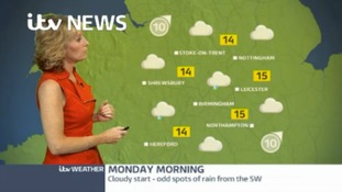 Midlands Weather: Cloudy with showers likely