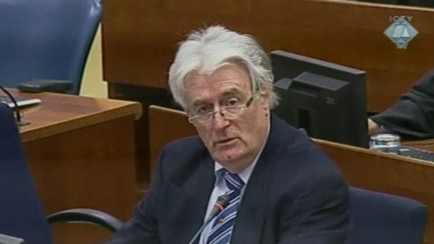 Radovan Karadzic appears at The Hague