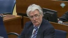 Radovan Karadzic appears at The Hague