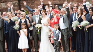 Dad beat cancer to walk daughter down the aisle