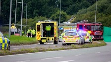 The fatal road traffic collision that occurred on the A5117