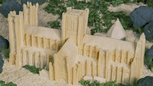 Cheese York Minster sculpture made for Yorkshire Day