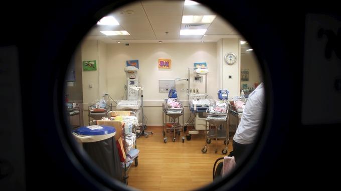 A hospital maternity ward
