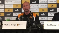 Walter Zenga addresses the press.