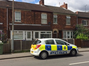 Police at murder scene in Gainsborough