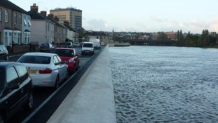Flood defences in Newport