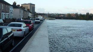 Flood defences in Newport