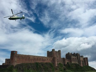 The Great North Air Ambulance Service (GNAAS) was called to help the North East Ambulance Service yesterday morning at Bamburgh