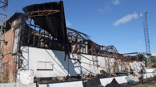 At 3am this morning Lincolnshire Police received a call concerning a large fire at the Louth FC ground