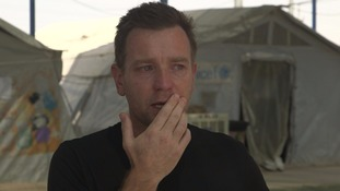 Ewan McGregor in tears after visiting Iraq refugee camp