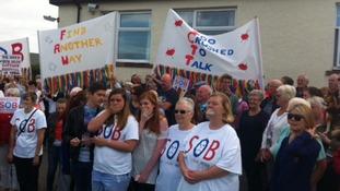 Hundreds take part in Maryport hospital protest
