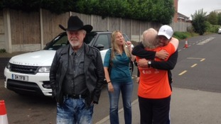 Justin and Merrill Osmond arrive at Armthorpe Leisure Centre