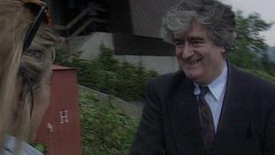 Radovan Karadzic meets Penny Marshall in 199