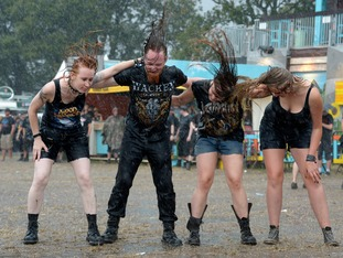 Metal fans at the Wacken Open Air festival in 2013
