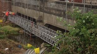 Work starts on Botcherby Bridge parapet repairs