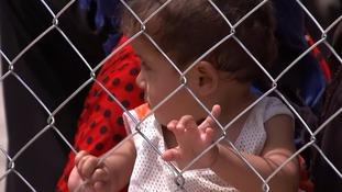 A baby in Debaga refugee camp.