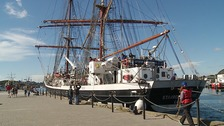 The Stavros S Niarchos is part of the Tall Ships Youth Trust.