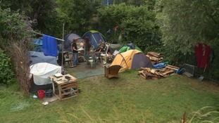 Campaigners fight to save homeless campers from eviction