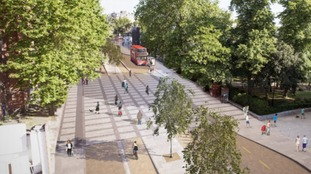 An artist's impression of what the cycle superhighway will look like