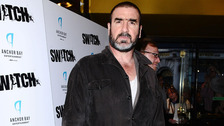 Eric Cantona arrives at a screening of film Switch, at Cineworld in London