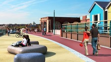 New pictures have been released of how Whitley Bay's Northern Promenade might look after improvement work takes place
