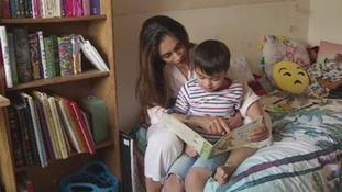 Tania Khan with son Qeis.