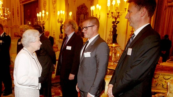 Her Majesty meets chef Heston Blumenthal and Health Secretary Jeremy Hunt.