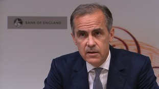 Governor Mark Carney was speaking after the Bank reduced interest rates to a record low level.
