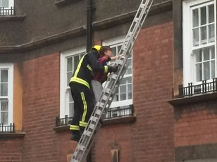 Four people were taken to hospital after the rescue