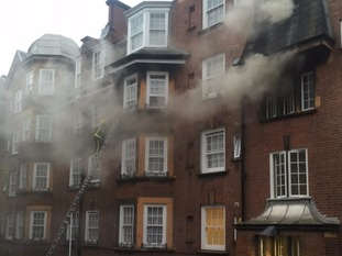 35 fire engines were required to tackle the blaze and save those trapped
