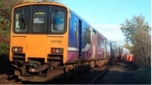 Derailed train: November 2015