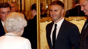 The Queen meets Gary Barlow