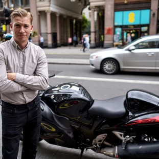 Simon Aukland's motorbike was stolen and abandoned