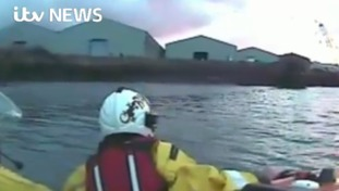 The RNLI have released footage of their team rescuing two kayakers who got stuck on a mudbank on the River Blyth
