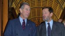 Prince Charles and David Blunkett
